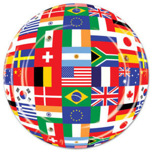 International-Flags-Themed-9-Inches-Paper-Plate