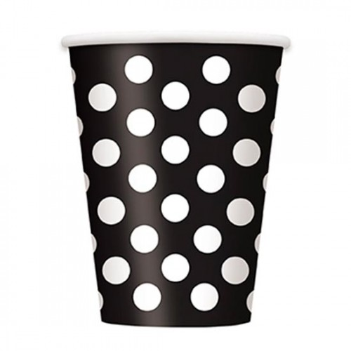 Midnight-Black-Decorative-Dots-12-Oz-Paper-Cup-500x500