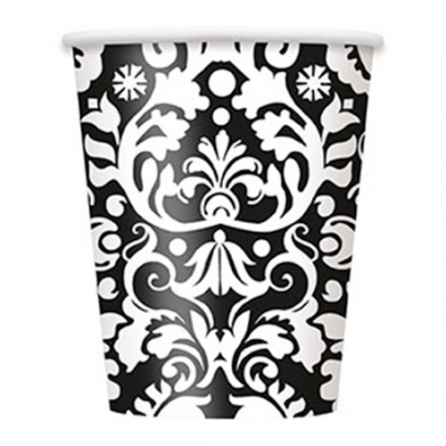 black-damask-theme-255ml-paper-cup1-500x500