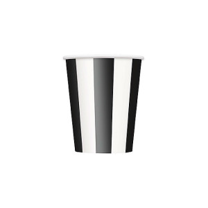 Black-and-White-Stripes-12Oz-Paper-Cup