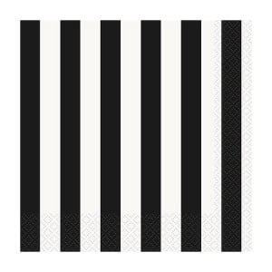 Black-and-White-Stripes-Theme-Luncheon-Napkins