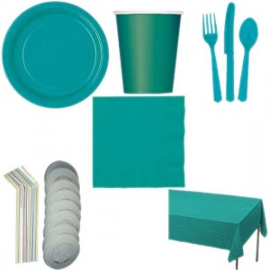 Caribbean-Teal-Colour-8-Person-Deluxe-Party-Pack-300x300