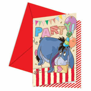 Winnie-the-Pooh-Invitations-and-Envelopes-Pack-of-6-image