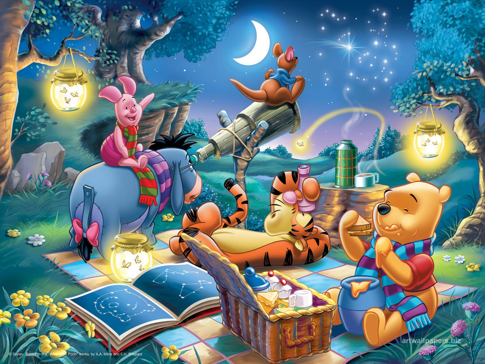 Poohs picnic partyrama blog pooh bear and friends voltagebd Gallery