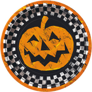 halloween-checkered-23cm-paper-plate-single