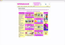 Partyrama Website 2000-2004