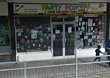 Party Poppers Shop Front In Bedford