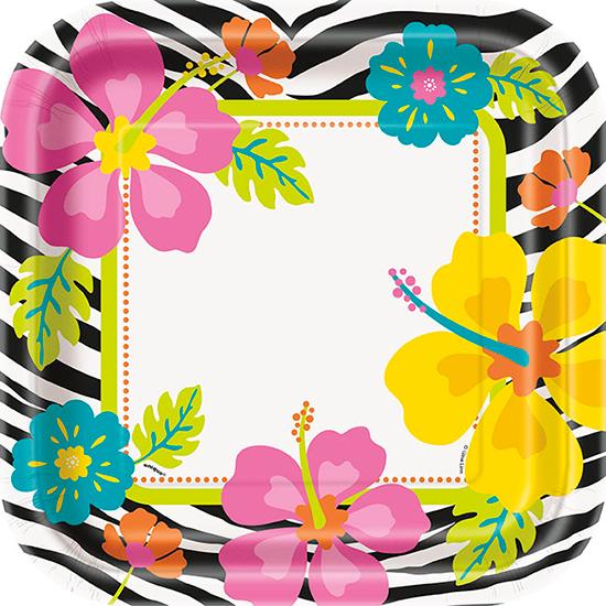 wild-luau-theme-23cm-square-plate