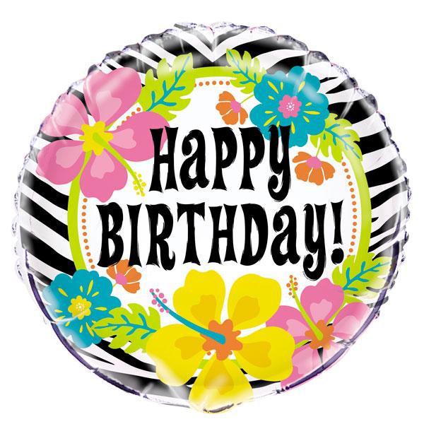 wild-luau-theme-happy-birthday-round-foil-balloon-product-image