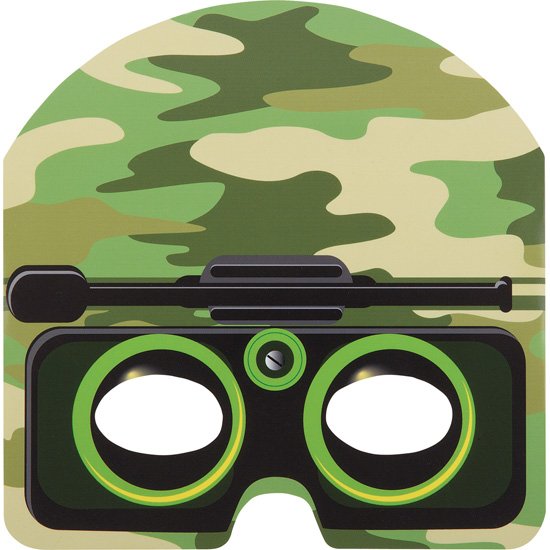 Camouflage-Themed-Party-Die-Cut-Mask