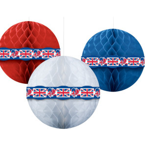 Great-Britain-Red-White-Blue-Honeycomb-Balls-30cm-Pack-of-3-image