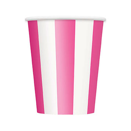 Pink-and-White-Stripes-Theme-12-Oz-Paper-Cup