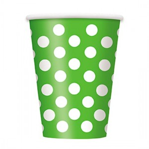 Lime-Green-Decorative-Dots-12-Oz-Paper-Cup-300x300