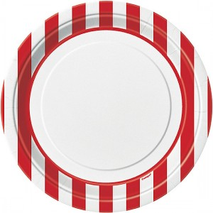 Red-and-White-Stripes-Theme-23cm-PaperPlate-300x300