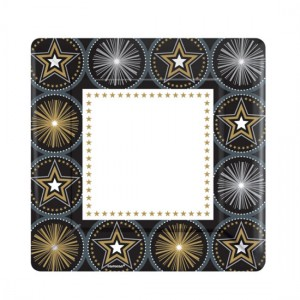 Glitter-Starz-26cm-Square-Plate-300x300