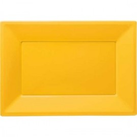 Yellow-Rectangular-Plastic-Serving-Tray-9-x-13-Inches-Pack-of-3-300x300