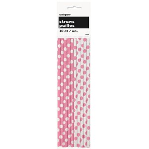 hot-pink-decorative-dots-paper-straws-product-image-300x300