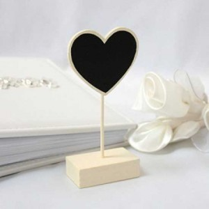 Heart-Place-Card-Holder-Chalk-Board-in-Ivory-Pack-of-6-300x300