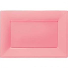 Pink-Rectangular-Plastic-Serving-Tray-9-x-13-Inches-Pack-of-3-300x300