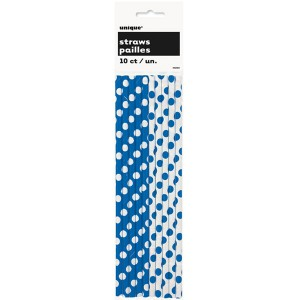 royal-blue-decorative-dots-paper-straws-product-image