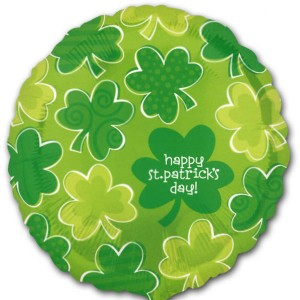 Happy-St-Patricks-Day-Playful-Shamrock-18-Inch-Foil-Balloon-product