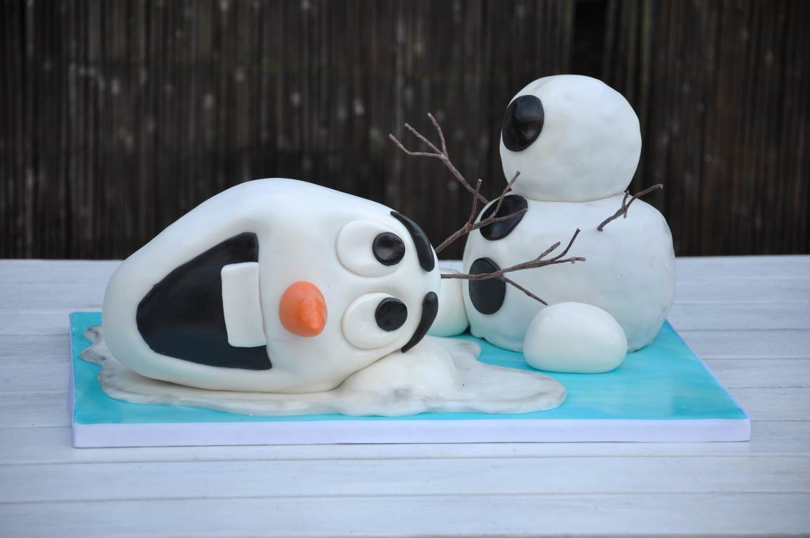 How To Make A Frozen Olaf Birthday Cake Partyrama Blog