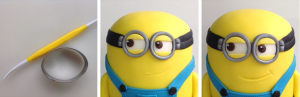 Adding detail to the Minion's goggles.