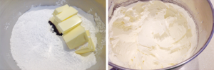 Making a vanilla buttercream filling.
