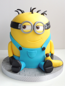 A fun finished Minion cake, straight from Despicable Me to your child's birthday party!