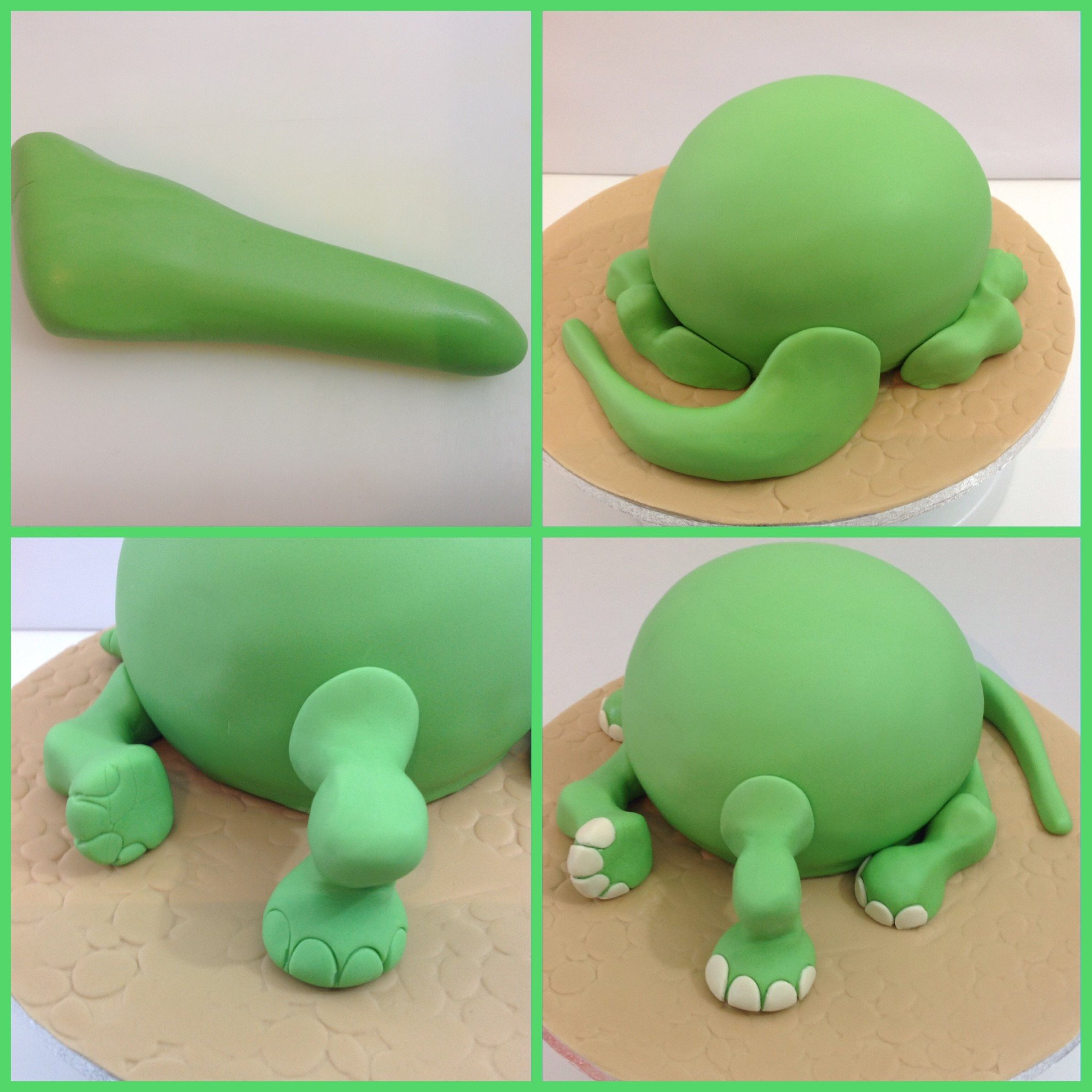 How To Make A Fondant Dinosaur Cake