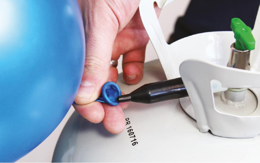 Using A Helium Tank