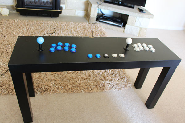 How to build a raspberry pi ikea retropie arcade table for Ikea table d arcade