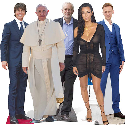 Celebrity Cardboard Cutouts At Partyrama