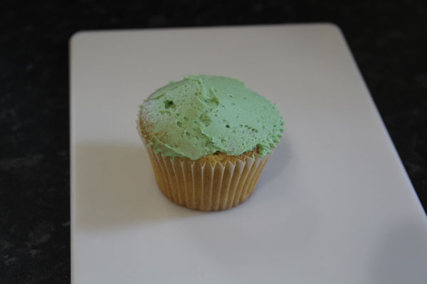 Buttercream Fully Applied To The Cupcake