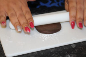 Rolling Out Chocolate Fondant Icing