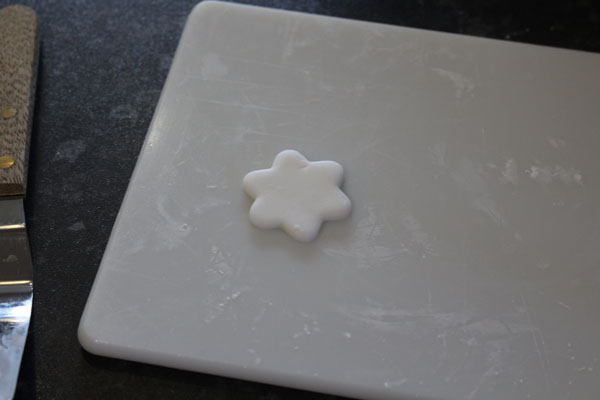 White Fondant Icing Cut Into A Star Shape