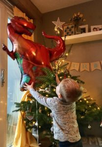 T-Rex Balloon At Christmas