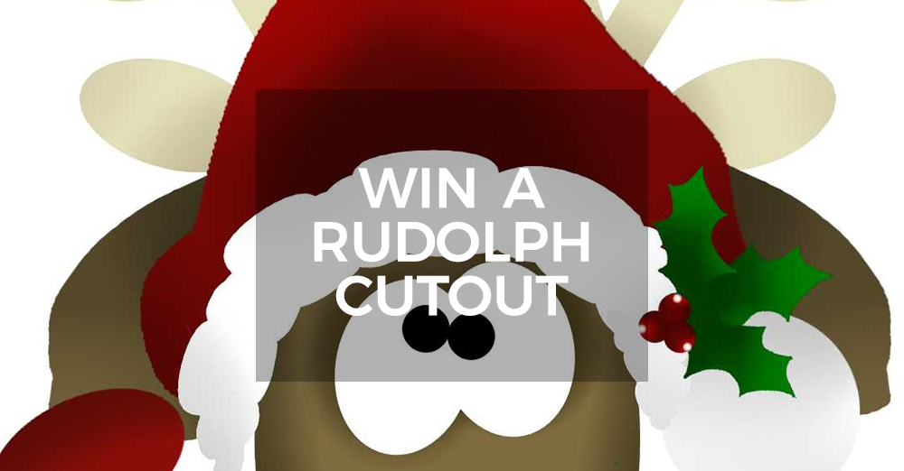 Win A Rudolph The Red Nosed Reindeer Cutout Competition