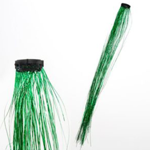 Pinterest Hair Extension Green Tinsel Clips