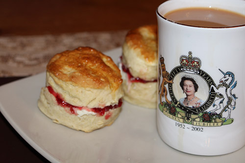 Traditional Scones With Clotted Cream And Jam