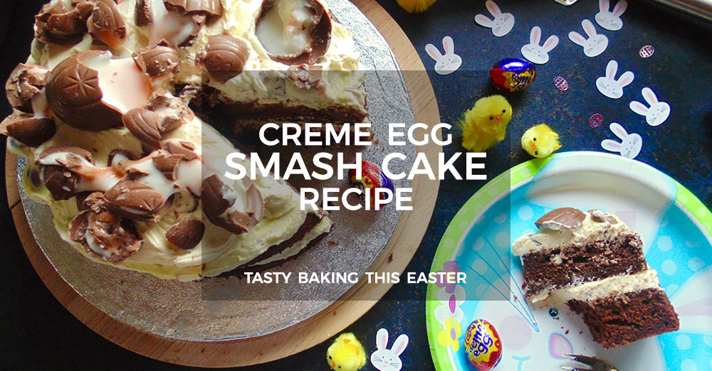 Smashed Creme Egg Cake Recipe