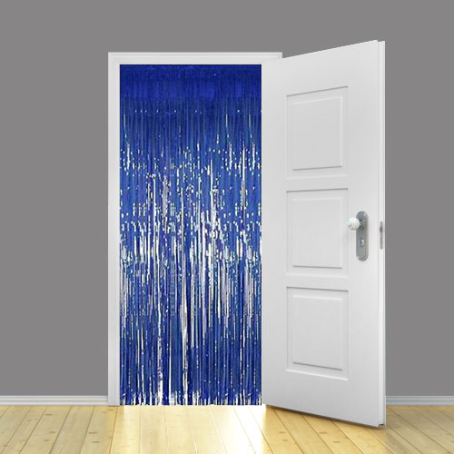 Blue Shimmer Door Curtain