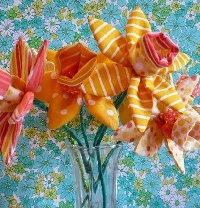 Fabric Daffodils Craft