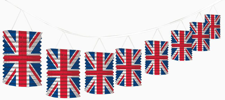 Union Jack Hanging Decorations from Partyrama