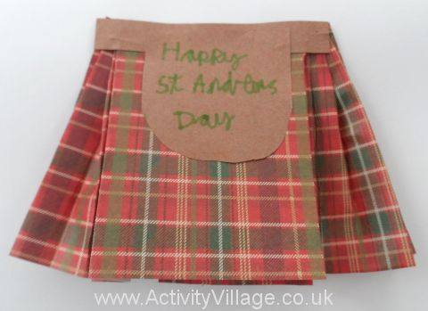 Scottish Kilt Card
