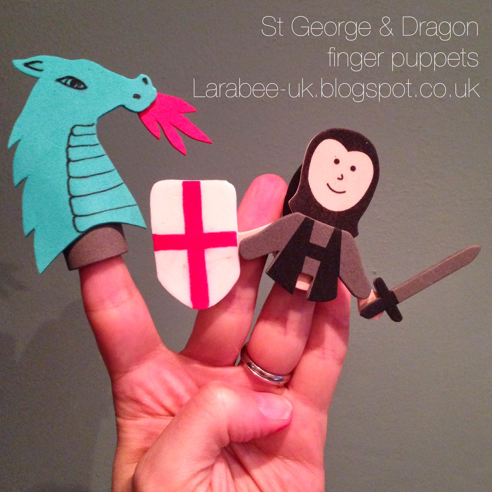 St George & The Dragon Finger Puppets