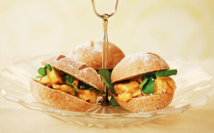 Coronation Chicken Sandwiches for the Queens Birthday Party
