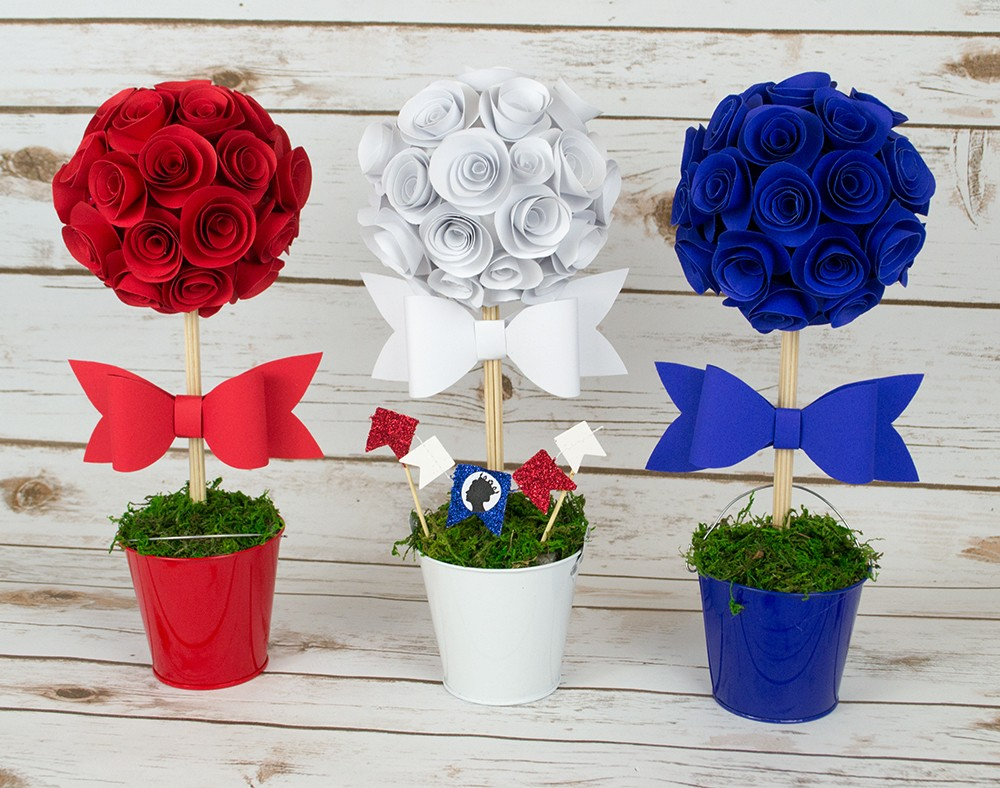 Queens Birthday DIY Rose Table Decorations