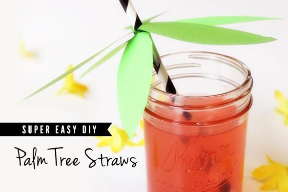 DIY Palm Tree Straws