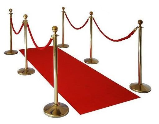 Red Carpet with Poles from Partyrama